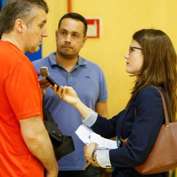Con Jorge Dueñas Seleccionador Nacional Balonmano Femenino